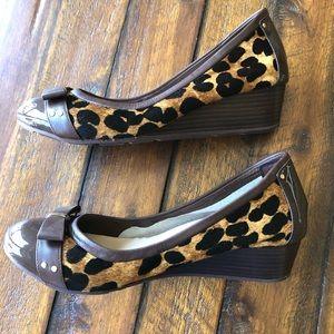 Cole Haan Calf Hair Leopard Print Nike Air Heels